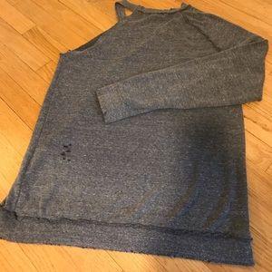 Treasure & Bond One Sleeve Distressed Swearshirt